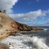 St Adrian's beach and Castle Walk