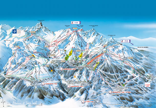 Courchevel & LaTania Piste Map
