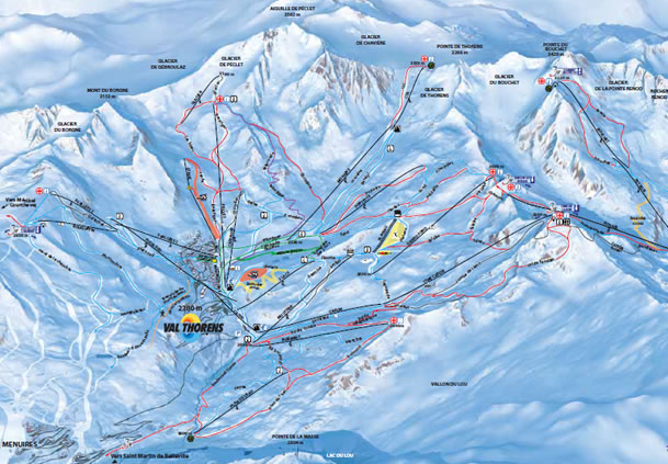 Val Thorens Piste Map