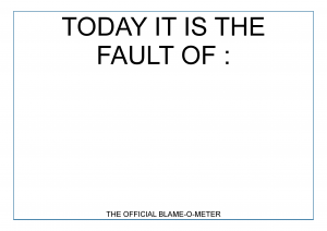 The Official Blame-o-Meter